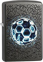 Zippo Soccer Benzinfeuerzeug, Messing,