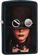 Zippo Steampunk Lady Benzinfeuerzeug, Messing,