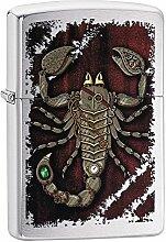 Zippo Steampunk Scorpion Benzinfeuerzeug, Messing,