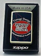 Zippo Vintage Design Cream Matte Windproof Lighter