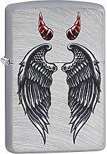 Zippo Wings and Horns Design Feuerzeug, Messing,