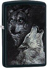 Zippo Wolf Benzinfeuerzeug, Messing,