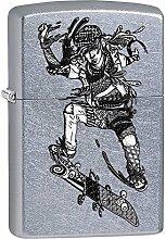 Zippo Zentangle Skateboarder Benzinfeuerzeug,