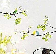Ziruixiong Wandtattoos Vögel Auf Baum Schälen