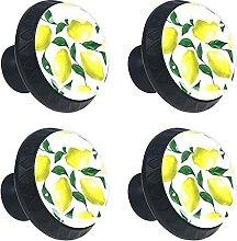 Zitrone Kristallglas Kommode Schublade Knöpfe