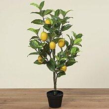 Zitronenbaum im Topf Deko Pflanze aus Kunststoff