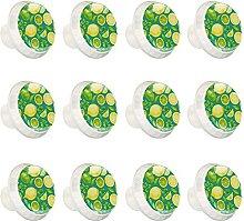 Zitronenfrucht Grün Bunte Schrankknöpfe Schrank