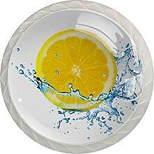 Zitronengeschmack Küchenknopf Klarglasschrank