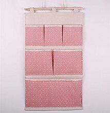 zivilverwalter Tür Wandbehang Aufbewahrungstasche 6Taschen Taschen Gadget Tasche Organizer Tasche faltbar Wand Pocket Regal Wandregal Veranstalter platzsparend Aufhängen Hängeregal, Textil, rose, Universally