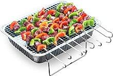 ZIYEWAN Barbecue-Werkzeugset Einweg-Grill, Grill