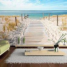 ZJFHL Fototapete Strand Meer Holzbrücke Design