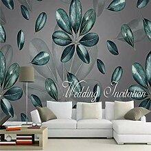 ZJfong 3D-Tapete moderne minimalistische tropische