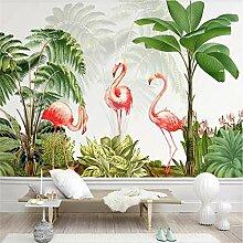 ZJfong 3D-Tapete tropische Pflanze verlässt