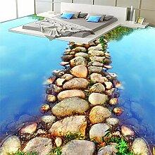 ZJfong PVC Wasserdichte 3D Bodenfliesen Tapete