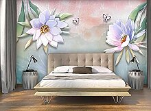 ZJfong Tapete 3D Foto Tapete schöne Blume
