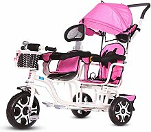 ZJHCC Kinder-Doppel-Dreirad, Kinderwagen,