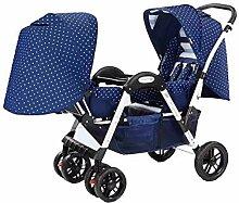 ZJHCC Twin Kinderwagen, kann liegend sitzen,