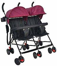 ZJHCC Twin Kinderwagen, kann sitzen, Licht,