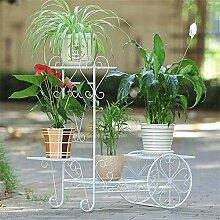ZJJMJ - Blumenregal Pflanzenständer 4-stufiges