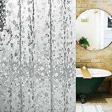 ZJM-Bath Vorhang Transparent Oval Kopfstein