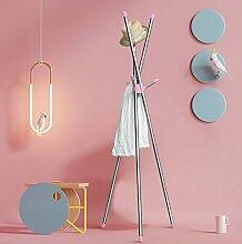 ZJM- Edelstahl Bekleidung Mütze Regal Rack Indoor Branch Kleiderbügel Kleider Rack 167cm ( Farbe : Pink )