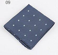 ZJM Einstecktuch (24 * 24cm) Tasche Quadratisches Herrenanzüge Unternehmen Hochzeit Taschentuch 11 Farben Zur Auswahl Taschentücher ( Farbe : #09 )