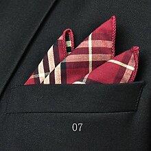 ZJM Einstecktuch (24 * 24cm) Tasche Quadratisches Herrenanzüge Unternehmen Hochzeit Taschentuch 12 Farben Zur Auswahl Taschentücher ( Farbe : #07 )