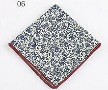 ZJM Einstecktuch (24 * 24cm) Tasche Quadratisches Herrenanzüge Unternehmen Hochzeit Taschentuch 9 Farben Zur Auswahl Taschentücher ( Farbe : #06 )