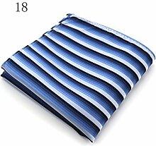 ZJM Einstecktuch (24 * 24cm) Tasche Quadratisches Herrenanzüge Unternehmen Hochzeit Taschentuch 15 Farben Zur Auswahl Taschentücher ( Farbe : #18 )