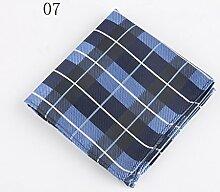 ZJM Einstecktuch (24 * 24cm) Tasche Quadratisches Herrenanzüge Unternehmen Hochzeit Taschentuch 11 Farben Zur Auswahl Taschentücher ( Farbe : #07 )