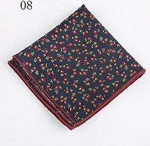 ZJM Einstecktuch (24 * 24cm) Tasche Quadratisches Herrenanzüge Unternehmen Hochzeit Taschentuch 9 Farben Zur Auswahl Taschentücher ( Farbe : #08 )