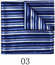 ZJM Einstecktuch (32 * 32 Cm) Herren Seide Kleine quadratische Seide Schals Anzug Taschen Handtuch Handtuch Schal Taschentücher ( Farbe : #03 )