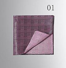 ZJM Einstecktuch (34 * 34 Cm) Maulbeereseide Schal Anzug Silk Pocket Square Taschentücher ( Farbe : #01 )