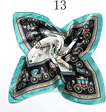 ZJM Einstecktuch (50 * 50 Cm) Seide Kleine quadratische Silk Schals Anzug Pocket Square Schal Taschentücher ( Farbe : #13 )