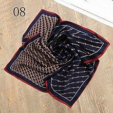 ZJM Einstecktuch (50 * 50 Cm) Seide Kleine quadratische Silk Schals Anzug Pocket Square Schal Taschentücher ( Farbe : #08 )