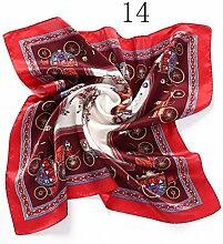 ZJM Einstecktuch (50 * 50 Cm) Seide Kleine quadratische Silk Schals Anzug Pocket Square Schal Taschentücher ( Farbe : #14 )