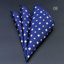 ZJM Einstecktuch Pocket Square 15 Farben zur Auswahl Taschentücher ( Farbe : #08 )