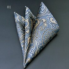 ZJM Einstecktuch Pocket Square 15 Farben zur Auswahl Taschentücher ( Farbe : #01 )