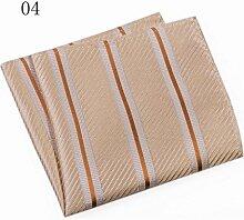 ZJM Einstecktuch Pocket Square Männer Verkleiden Sich Business Wedding 11 Farben, Um Von Zu Wählen Taschentücher ( Farbe : #04 )