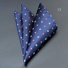 ZJM Einstecktuch Pocket Square Premium Satin Taschentuch 11 Farben zur Auswahl Taschentücher ( Farbe : #13 )