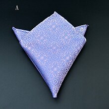 ZJM Einstecktuch Pocket Square Premium Satin Taschentuch 12 Farben zur Auswahl Taschentücher ( Farbe : A )