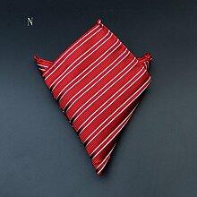 ZJM Einstecktuch Pocket Square Premium Satin Taschentuch 12 Farben zur Auswahl Taschentücher ( Farbe : N )