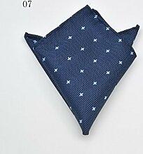 ZJM Einstecktuch Pocket Square Premium Satin Taschentuch 14 Farben zur Auswahl Taschentücher ( Farbe : #07 )