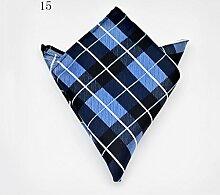 ZJM Einstecktuch Pocket Square Premium Satin Taschentuch 14 Farben zur Auswahl Taschentücher ( Farbe : #15 )