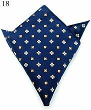 ZJM Einstecktuch Pocket Square Premium Satin Taschentuch 15 Farben zur Auswahl Taschentücher ( Farbe : #18 )