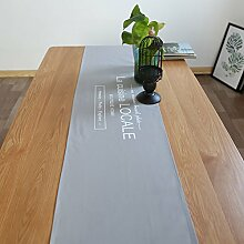 ZJM-TischLäufer Nordic Fabric Tischläufer Rectangle Placemat Minimalismus ( Farbe : Grau , größe : 35*180cm )
