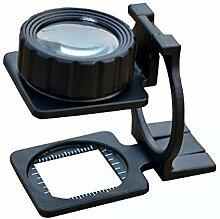 ZJN-JN Magnifiers Lupe Skala Glas 10x Breite und