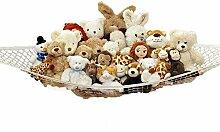 ZJstyle® Tragbare 2 Pcs Toy Hammock Toy Organizer Net Jumbo Toy Hängematte , Stofftier und Spielzeug-Speicher-Hängematte , Spielzeug Hammock Net Organisieren Kuscheltiere , Spielzeug Organizer mit 3 Haken (180x120x120cm)