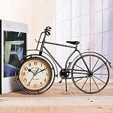 ZJWZ Home Uhr, Schmiedeeiserne Fahrraduhr Vintage