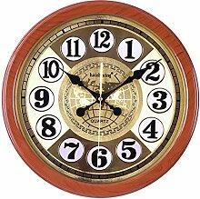ZJWZ Wand Uhr kreative Imitation Goldfolie